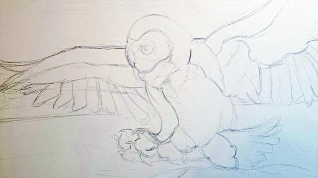 Owl Sketch Started
